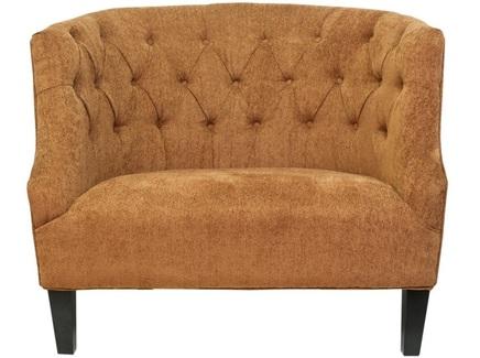 Широкое кресло solio (mak-interior) оранжевый 110x93x90 см.