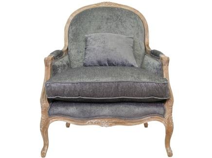 Кресло классическое aldo classic (mak-interior) серый 84x103x85 см.