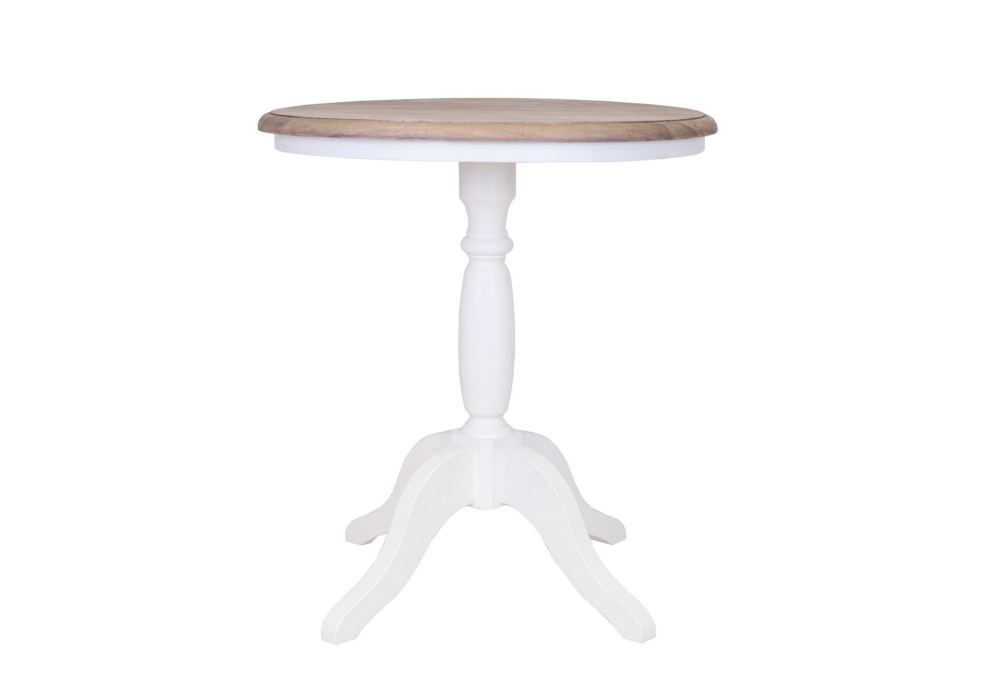 Столик Valent whiteКофейные столики<br>Очаровательный кофейный столик на высоком основании, к которому прикреплены четыре ножки изогнутой формы. Стол Valent выполнен из массива дуба. Он непременно добавит изюминки Вашему интерьеру и подарит ощущение уюта. &amp;amp;nbsp;<br><br>Material: Береза<br>Height см: 68<br>Diameter см: 60