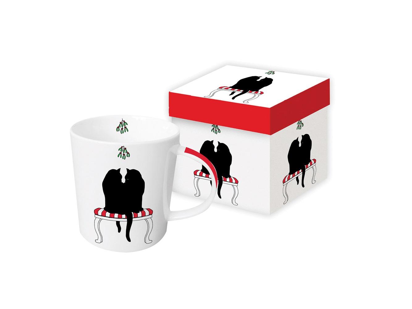 """Paperproducts Design Кружка в подарочной коробке """"black cat mistletoe"""""""