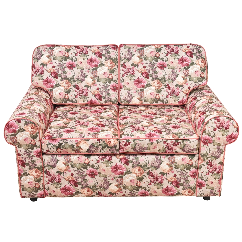 ДиванДвухместные диваны<br>Создать атмосферу загородного дома, в котором всегда звучит музыка, пахнет вишневым вареньем, а на окне стоят полевые цветы... Это ведь так просто! В компании этого дивана у вас на душе всегда будет лето. Расположитесь на нем и отдохните от городской суеты.<br><br>Material: Текстиль<br>Length см: None<br>Width см: 150<br>Depth см: 90<br>Height см: 90