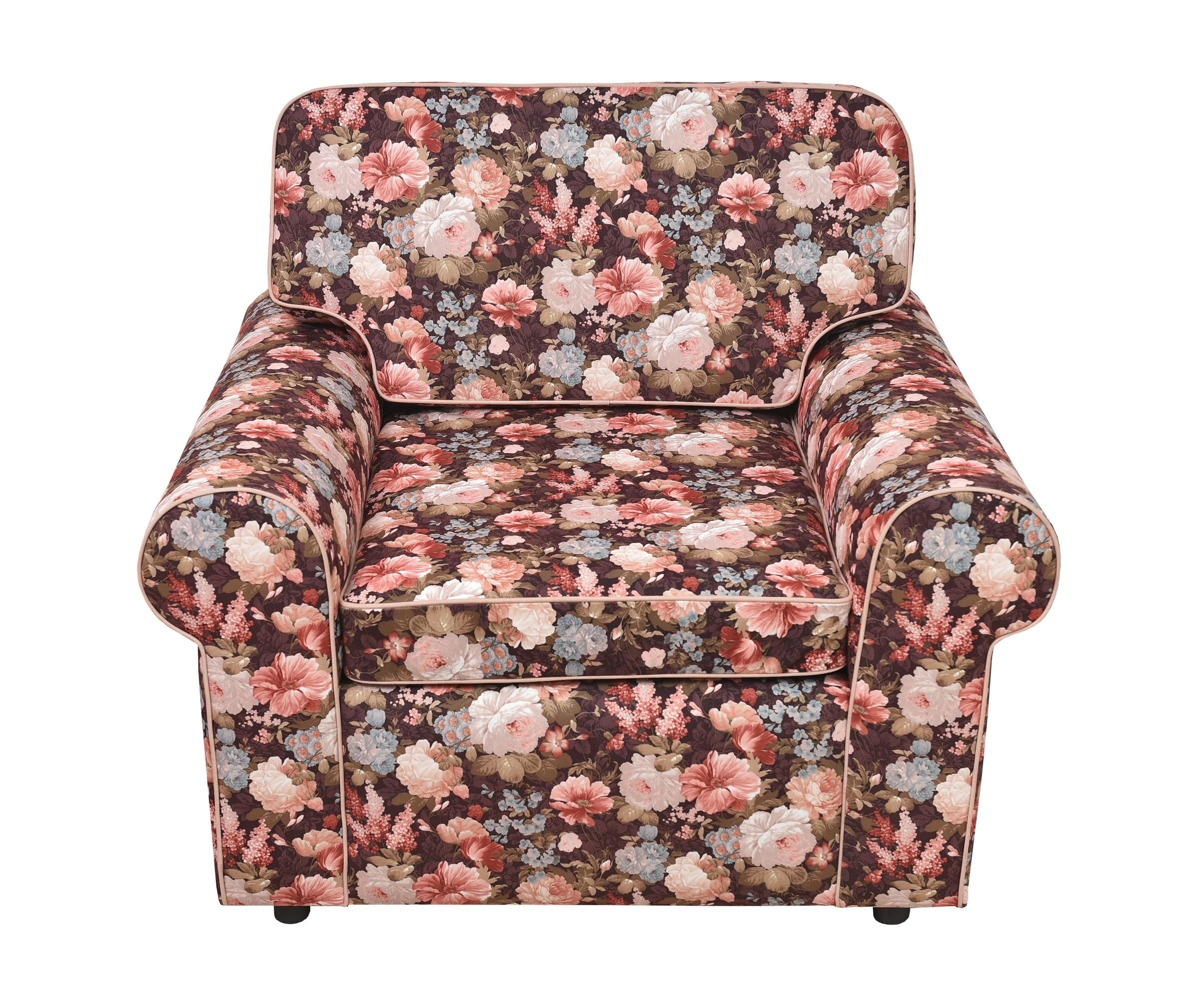 КреслоИнтерьерные кресла<br>Цветы добавляют интерьеру гармонии и уюта, поднимают настроение и, наконец, это просто красиво.  С этим креслом ваша квартира &amp;quot;оживет&amp;quot;, наполнится энергией и станет уютнее. Простой элегантный дизайн подойдет как кантри, так и английскому стилю.<br><br>Material: Текстиль<br>Length см: None<br>Width см: 110<br>Depth см: 90<br>Height см: 90