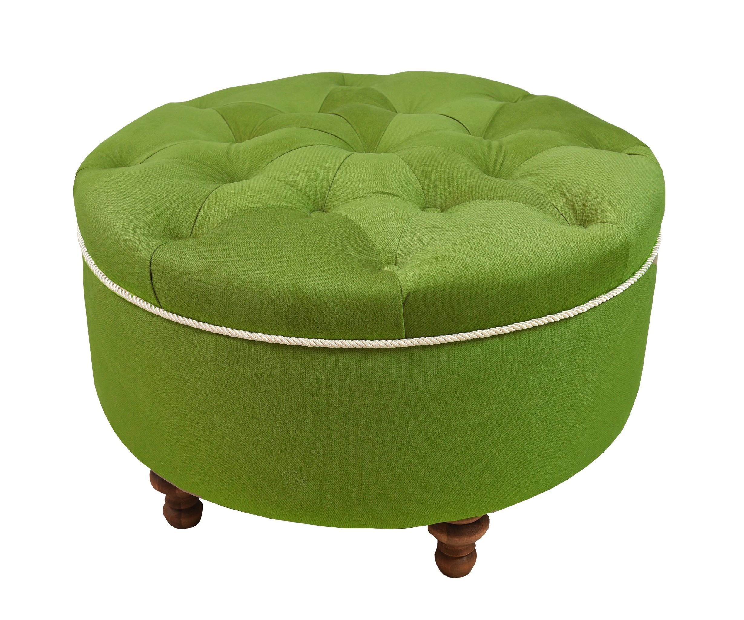 Пуфик круглыйКто не любит пикники на природе? С этим пуфом цвета зеленой травы позволит вам устраивать их хоть каждый день прямо у себя дома! Он станет незаменимой деталью в вашей квартире и наполнит ее уютом и теплом.<br><br>Material: Текстиль<br>Высота см: 35