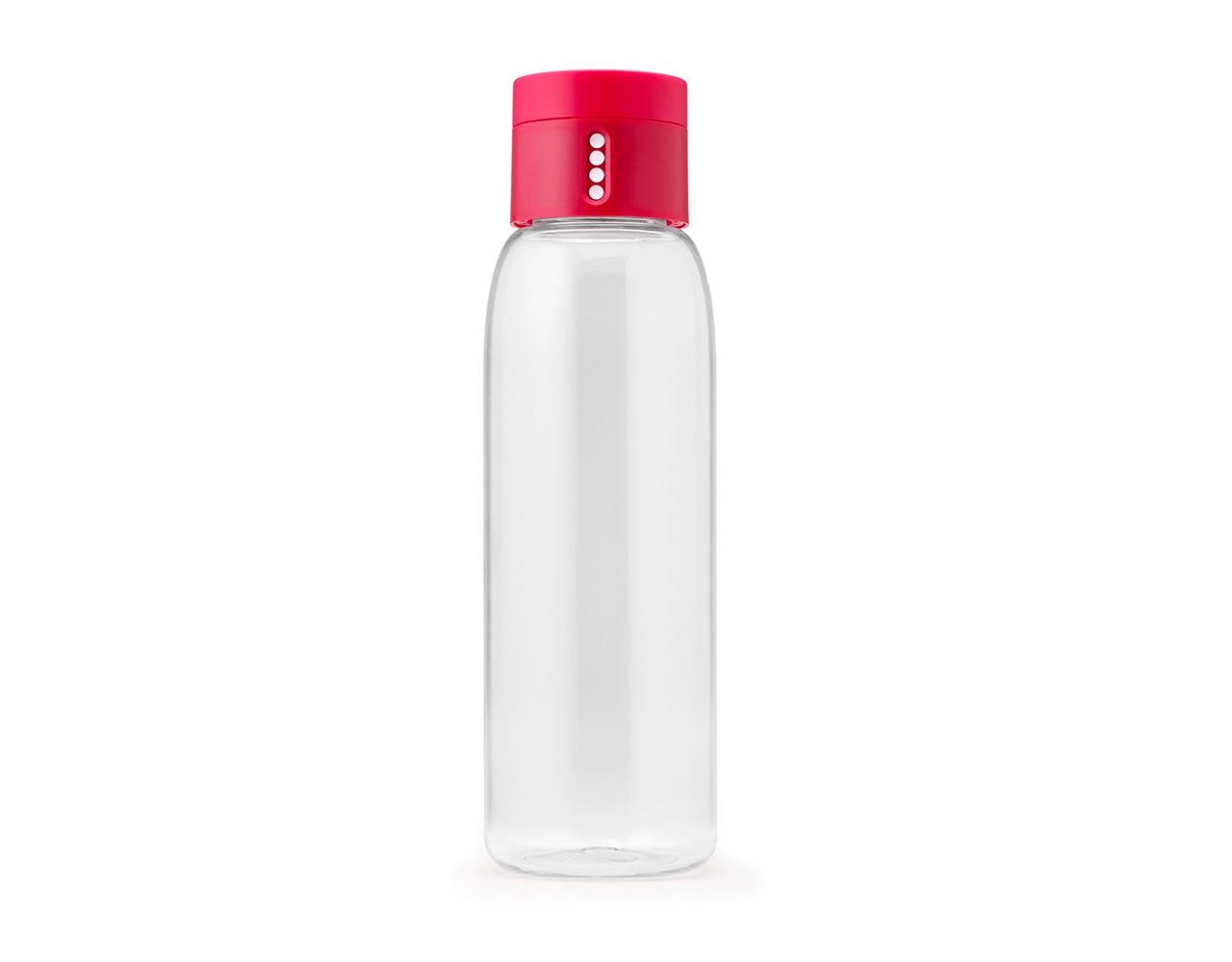 Бутылка для воды DotБутылки<br>Уникальная бутылка, которая поможет вам контролировать ежедневное потребление воды. Инновационная крышка со счетчиком запомнит каждое наполнение бутылки в течение дня. Просто закрутите крышку до появления точки, а для питья используйте верхнюю крышку. Новая точка появится каждый раз, когда бутылка заново заполнена и крышка закручена. <br>Из гладкого литого носика бутылки удобно пить, а широкое горлышко идеально для насыпания льда и мытья. Герметичная крышка надежно защитит содержимое от вытекания. Бутылка изготовлена из экологичного и удапрочного материала Tritan.&amp;lt;div&amp;gt;&amp;lt;br&amp;gt;&amp;lt;/div&amp;gt;&amp;lt;div&amp;gt;Объем - 600 мл.&amp;lt;/div&amp;gt;<br><br>Material: Пластик<br>Height см: 23,5<br>Diameter см: 7