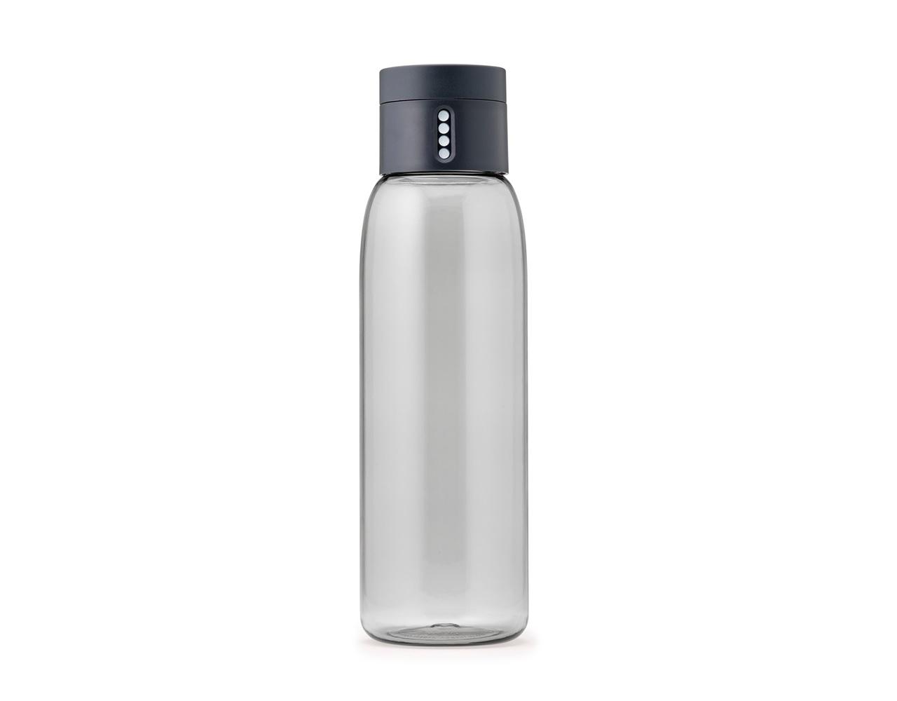 Бутылка для воды DotБутылки<br>Уникальная бутылка, которая поможет вам контролировать ежедневное потребление воды. Инновационная крышка со счетчиком запомнит каждое наполнение бутылки в течение дня. Просто закрутите крышку до появления точки, а для питья используйте верхнюю крышку. Новая точка появится каждый раз, когда бутылка заново заполнена и крышка закручена. <br>Из гладкого литого носика бутылки удобно пить, а широкое горлышко идеально для насыпания льда и мытья. Герметичная крышка надежно защитит содержимое от вытекания. Бутылка изготовлена из экологичного и удапрочного материала Tritan.&amp;lt;div&amp;gt;&amp;lt;br&amp;gt;&amp;lt;/div&amp;gt;&amp;lt;div&amp;gt;Объем - 600 мл.&amp;lt;/div&amp;gt;<br><br>Material: Пластик<br>Высота см: 23