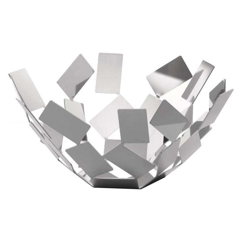 Ваза для фруктов La stanza dello sciroccoЧаши<br>Великолепная ваза для фруктов из обширной серии предметов для гостиной и кухни  La Stanza dello Scirocco.<br><br>На создание коллекции архитектора и дизайнера Марио Тримарки вдохновили традиционные комнаты «сирокко», которые можно повстречать в богатых сицилийских домах. Эти небольшие помещения без окон предназначены для укрытия в случае сильного средиземноморского ветра. Шум мощных порывов, философские размышления о жизни и игра теней на стене — такова атмосфера этих комнат, в которых люди бывают вынуждены проводить в бездействии долгое время. <br><br>Тонкие пластины, которые образуют ассиметричные формы коллекции, кажутся как будто закрученными в воздухе ветряным вихрем. При первом взгляде на блюдо даже может показаться, словно отдельные его части никак не закреплены между собой: еще чуть-чуть — и оно разлетится в разные стороны!&amp;lt;div&amp;gt;&amp;lt;br&amp;gt;&amp;lt;/div&amp;gt;&amp;lt;div&amp;gt;Материал: окрашенная нержавеющая сталь.&amp;lt;/div&amp;gt;&amp;lt;div&amp;gt;Дизайн: Mario Trimarchi.&amp;lt;/div&amp;gt;<br><br>Material: Сталь<br>Width см: 27,3<br>Depth см: 27,3<br>Height см: 13