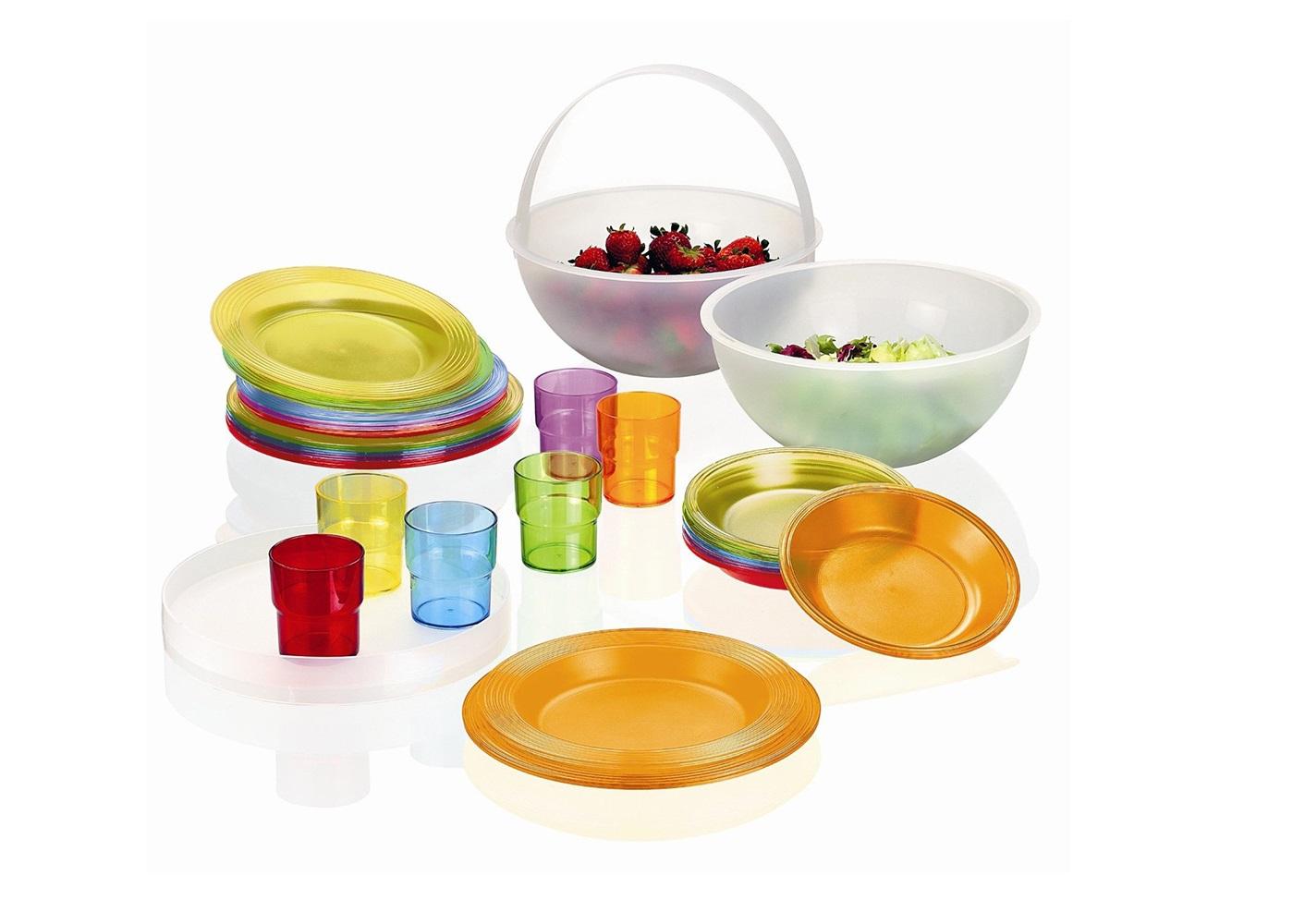 Набор для пикника pic bollНаборы для пикника<br>Оригинальный, функциональный и яркий набор для пикника Pic Boll  - это переиздание знаменитого набора 70-х годов. Глубокая чаша содержит в себе всё, что понадобится для полноценного отдыха на природе: два контейнера, поднос, шесть простых тарелок, шесть тарелок для супа, шесть десертных тарелок и шесть стаканов. <br><br>Теперь вам не нужно собирать гору посуды, чтобы организовать перекус на свежем воздухе - все предметы помещаются в единый контейнер, а верхняя ручка с креплением создана для удобной и комфортной переноски.<br>Все составляющие набора сделаны из безопасного пищевого пластика и пригодны для мытья в посудомоечной машине.&amp;lt;div&amp;gt;&amp;lt;br&amp;gt;&amp;lt;/div&amp;gt;&amp;lt;div&amp;gt;Материал: пластик SAN, полипропилен&amp;lt;br&amp;gt;&amp;lt;/div&amp;gt;<br><br>Material: Пластик