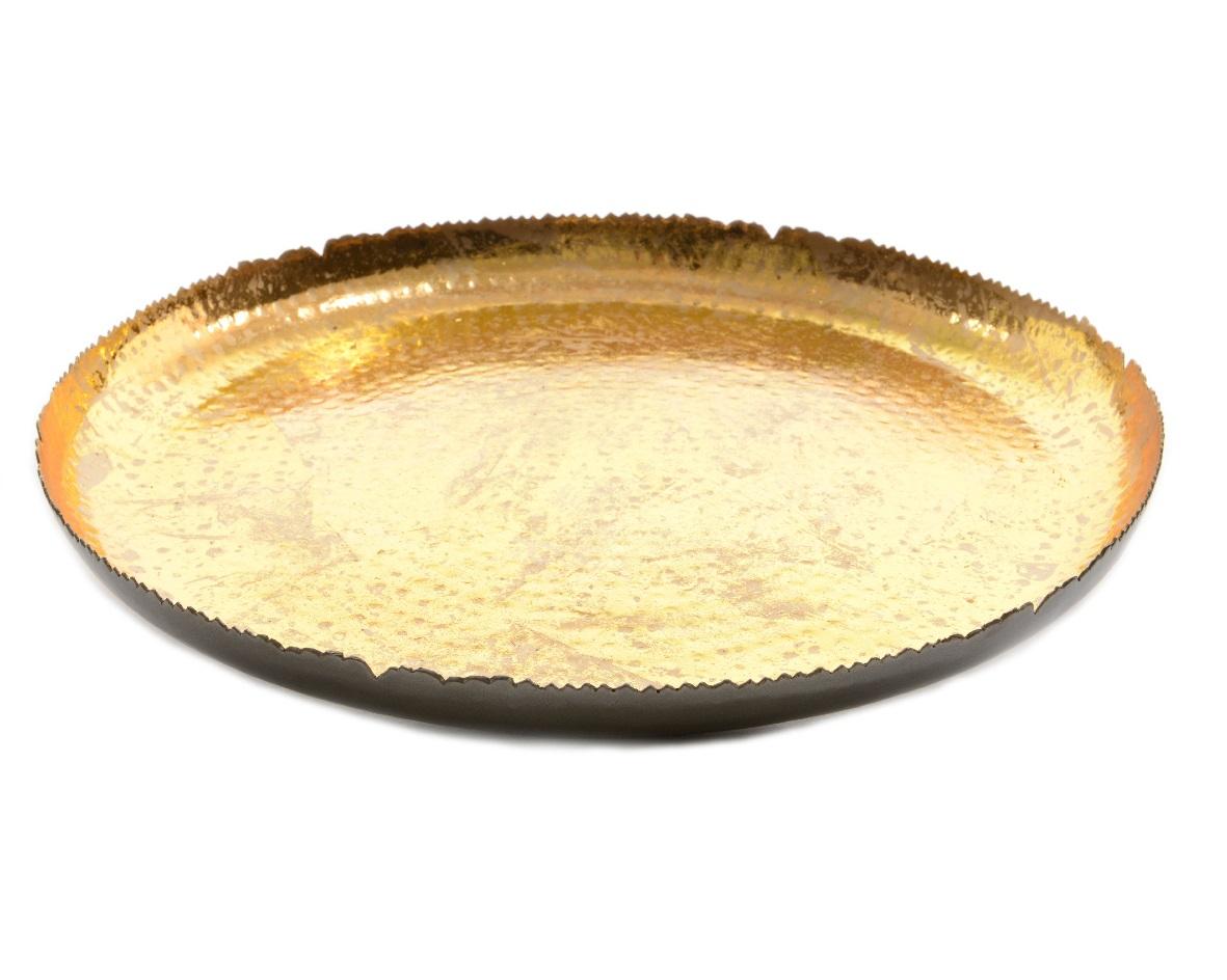 БлюдоДекоративные блюда<br><br><br>Material: Металл<br>Width см: None<br>Depth см: 3<br>Height см: None<br>Diameter см: 40