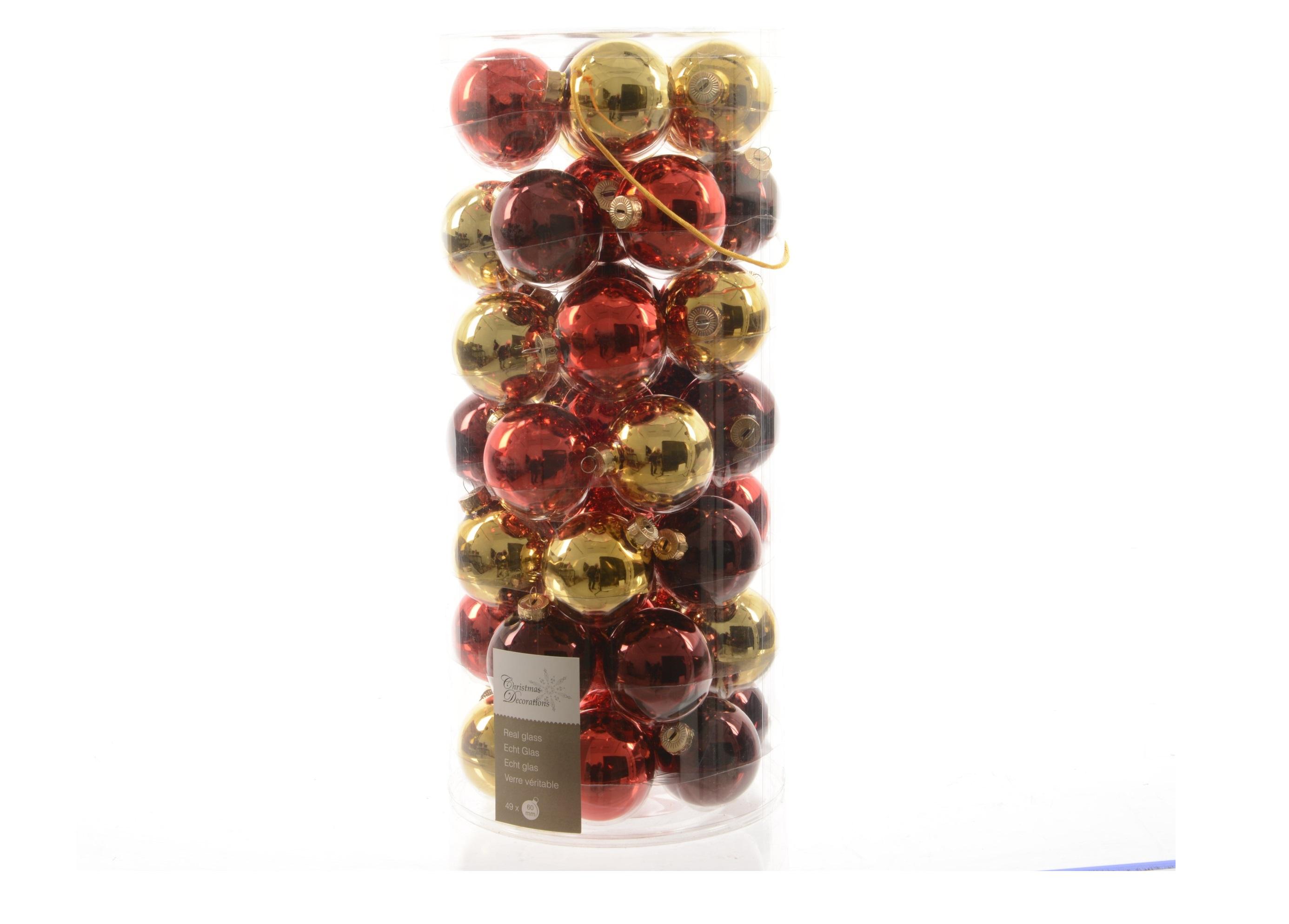 Набор стеклянных шаров Твист (49шт)Новогодние игрушки<br><br><br>Material: Стекло<br>Width см: None<br>Depth см: 6<br>Height см: None<br>Diameter см: 6