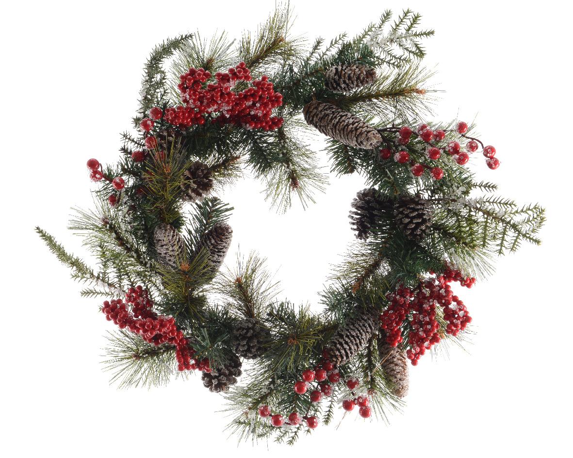 Рождественский венок с ягодамиНовогодний декор<br>Материал: полиэтилен,пенопласт,<br><br>Material: Пластик<br>Width см: None<br>Depth см: 5<br>Height см: None<br>Diameter см: 60