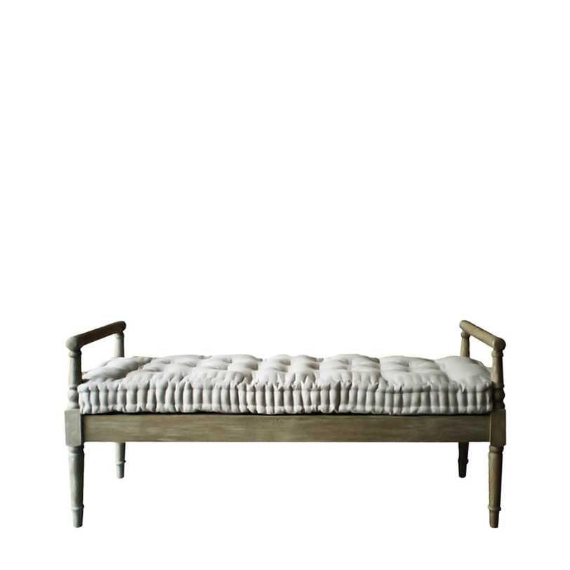 Бенч DUDLEYБанкетки, оттоманки и кушетки<br>Скамья-банкетка с мягкой подушкой-сиденьем. Идеальна для прихожей и спальни.<br><br>Material: Дуб<br>Width см: 153<br>Depth см: 52<br>Height см: 71