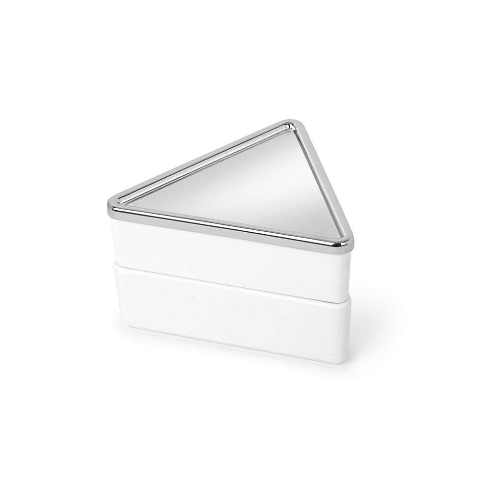 Шкатулка для украшений TrinityШкатулки<br>Шкатулка  для украшений из двух съёмных отделений. Корпус из из литого меламина. Металлическая крышка закрывает верхнее отделение и служит дополнительным местом для хранения. Отлично подойдет для хранения мелких украшений в ванной, защищая их от влаги.&amp;lt;div&amp;gt;&amp;lt;br&amp;gt;&amp;lt;/div&amp;gt;&amp;lt;div&amp;gt;Дизайнеры Sung wook Park.&amp;lt;/div&amp;gt;<br><br>Material: Металл<br>Ширина см: 13<br>Высота см: 8<br>Глубина см: 13