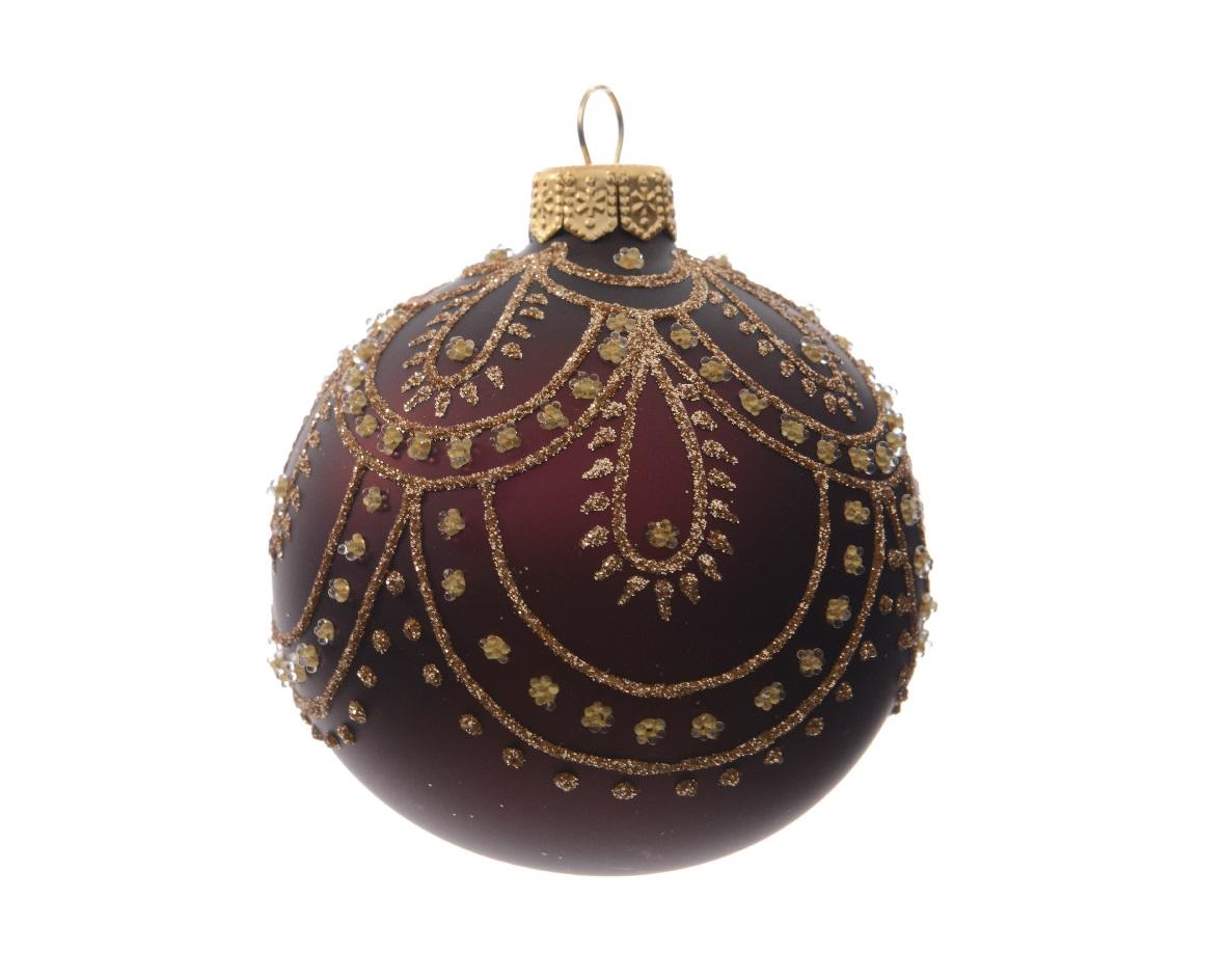 Набор шаров на ёлку (6шт)Новогодние игрушки<br><br><br>Material: Стекло<br>Width см: None<br>Depth см: None<br>Height см: 8<br>Diameter см: 8