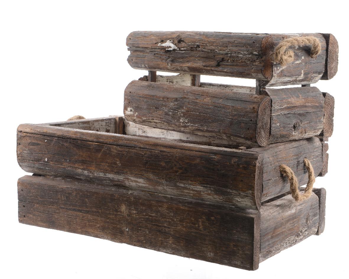 Набор деревянных ящиков (2шт)