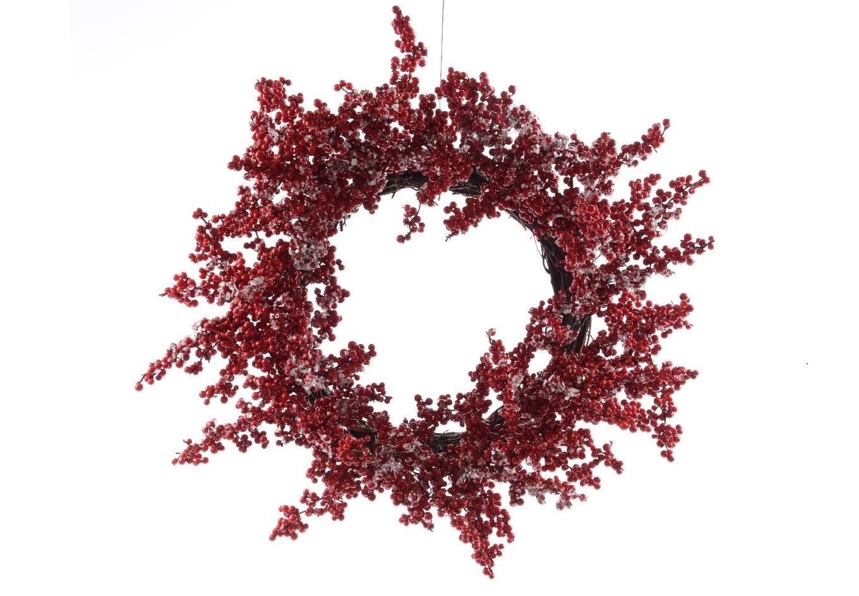 Рождественский венок с ягодамиНовогодний декор<br><br><br>Material: Дерево<br>Width см: None<br>Depth см: 5<br>Height см: None<br>Diameter см: 53