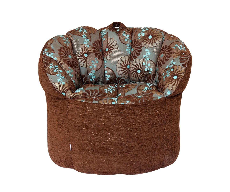 Кресло-пуф Brown in FlowersФорменные пуфы<br>Это кресло просто создано для творческих людей! На нем будет так комфортно и приятно расположиться в перерыве между рисованием картины или игрой на музыкальном инструменте, на нем вы сможете обдумать и найти пути реализаций своих самых смелых фантазий, ведь яркий орнамент на этом кресле вдохновляет! Удобная спинка с круговой поддержкой спины позаботится о том, чтобы вам было уютно и приятно находиться в этом кресле, и ничего не отвлекало вас от дел.<br><br>Material: Текстиль<br>Length см: None<br>Width см: 70<br>Depth см: 80<br>Height см: 35