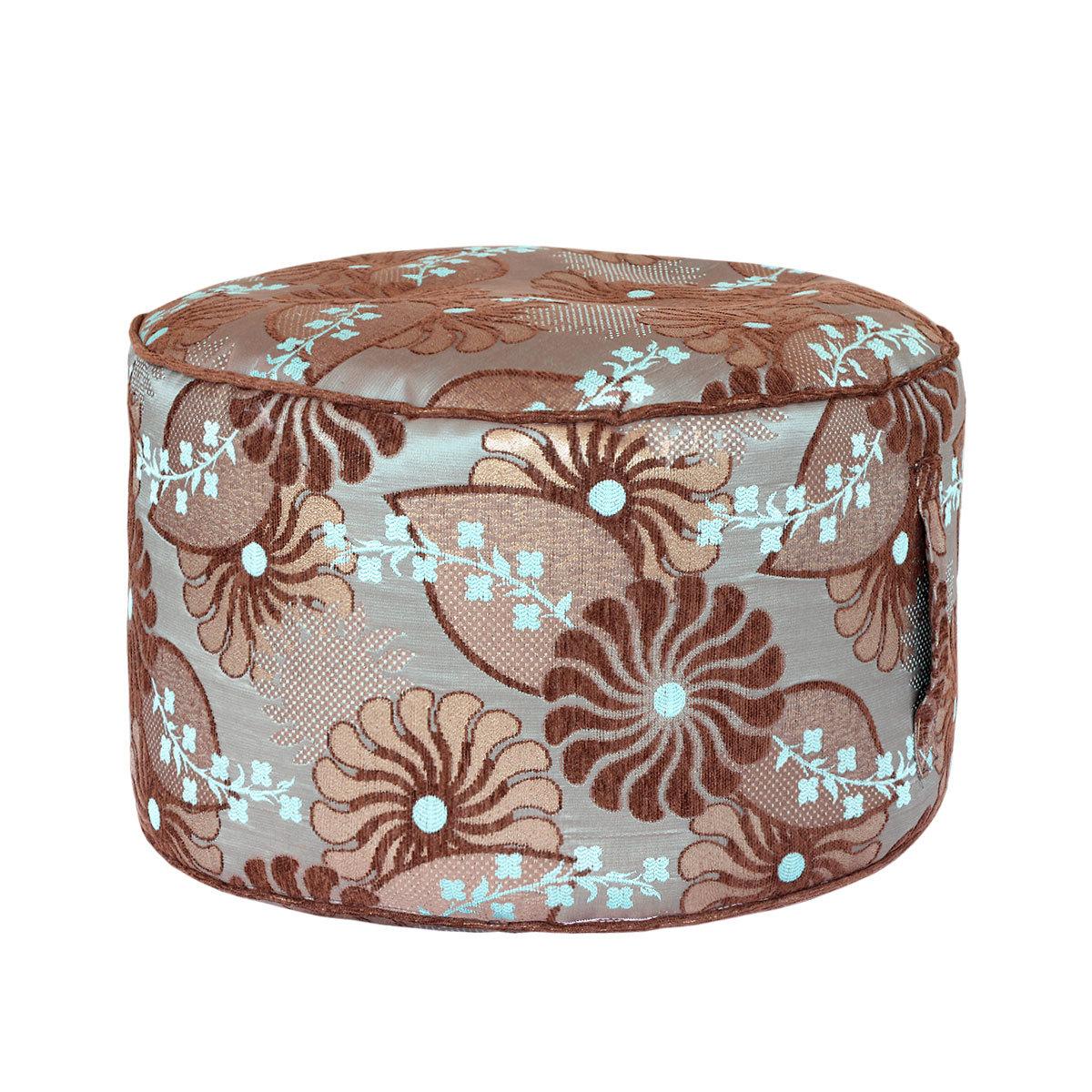 Круглый пуф Blue FlowersФорменные пуфы<br>Очень легкий и удобный пуфик разбавит любой интерьер и послужит как мягкое сидение или небольшой столик<br><br>Material: Текстиль<br>Height см: 30<br>Diameter см: 55