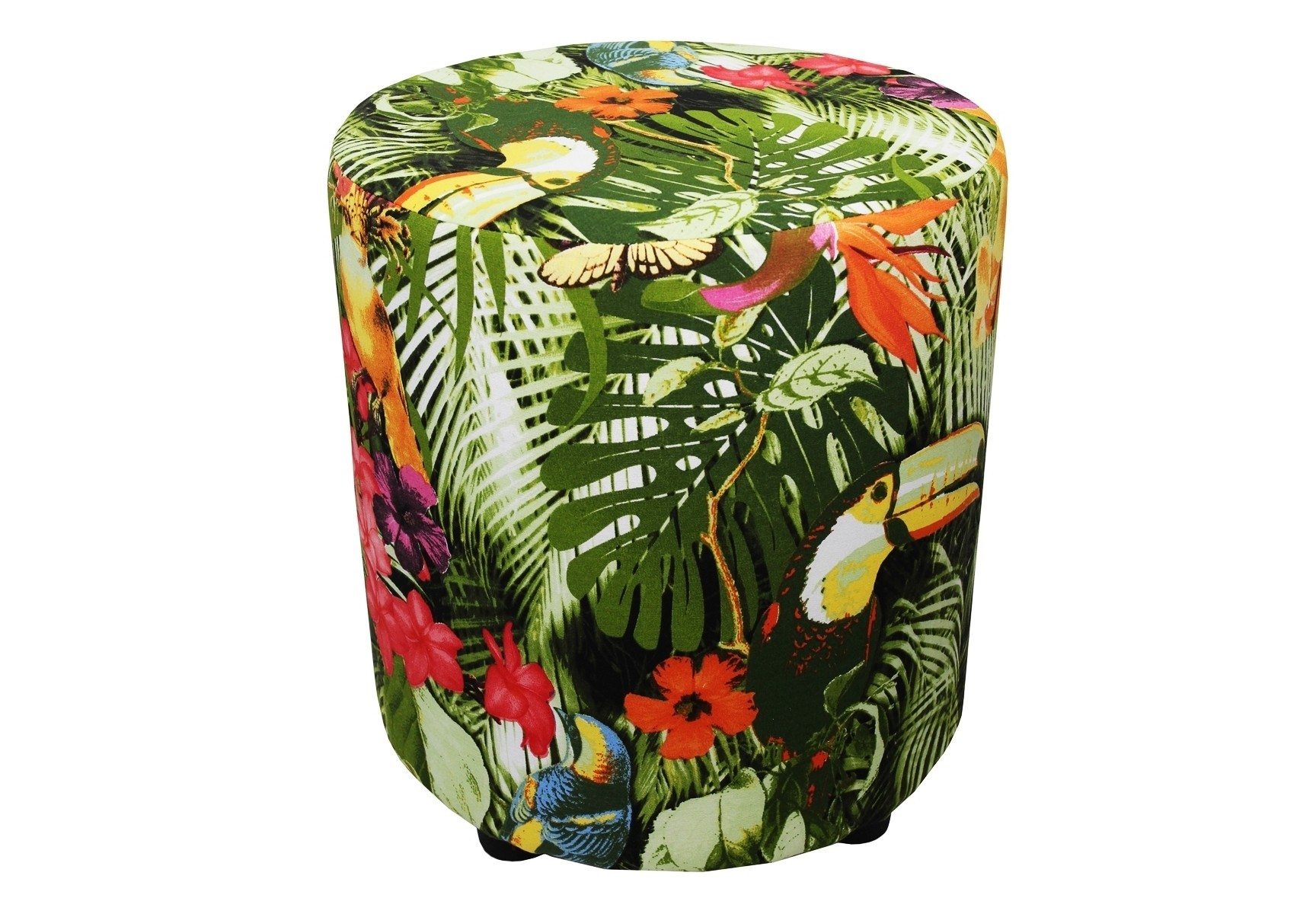 Круглый пуфФорменные пуфы<br>Очень устойчивый пуф на деревянной основе статнет незаменимым предметом декора или функциональной мебелью в вашем доме. А эксклюзивные ткани добавят изюминку в ваше пространство.<br><br>Material: Текстиль<br>Высота см: 40