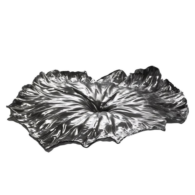 Блюдо a lotus leaf (alessi) черный 44x6x41 см.