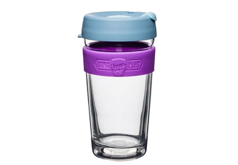 Кружка Keepcup longplay lavenderЧайные пары, чашки и кружки<br>Новая версия культовых кружек Keepcup с еще более удобной крышкой. Двойной корпус теперь состоит из стекла и пластика Tritan. Кружка, созданная с мыслями о вас и о планете. Главная идея KeepCup – вдохновить любителей кофе отказаться от использования одноразовых бумажных и пластиковых стаканов, так как их производство и утилизация наносят вред окружающей среде. В год производится и выбрасывается около 500 миллиардов одноразовых стаканчиков, а ведь планета у нас всего одна! <br><br>Но главный плюс кружки  – привлекательный и яркий дизайн, который станет отражением вашего личного стиля. Берите её в кафе или наливайте кофе, чай, сок дома, чтобы взять с собой - пить вкусные напитки на ходу, на работе или на пикнике. Специальная крышка с открывающимся и закрывающимся клапаном спасет от брызг, а силиконовый ободок поможет не обжечься (плюс, удобно держать кружку в руках.<br>Крышка сделана из нетоксичного пластика без содержания вредного бисфенола (BPA-free). <br><br>Стеклянная кружка теперь дополнена съемным корпусом из пластика Tritan.<br>Благодаря этой особенности кружка лучше сохраняет тепло и предотвращает образование конденсата, если напиток со льдом. Корпус не дает обжечься и защищает руку от холода.&amp;lt;div&amp;gt;&amp;lt;span style=&amp;quot;font-size: 14px;&amp;quot;&amp;gt;&amp;lt;br&amp;gt;&amp;lt;/span&amp;gt;&amp;lt;/div&amp;gt;&amp;lt;div&amp;gt;&amp;lt;span style=&amp;quot;font-size: 14px;&amp;quot;&amp;gt;Объем: 454 мл.&amp;lt;/span&amp;gt;&amp;lt;br&amp;gt;&amp;lt;/div&amp;gt;<br><br>Material: Стекло<br>Height см: 15,8<br>Diameter см: 8,8