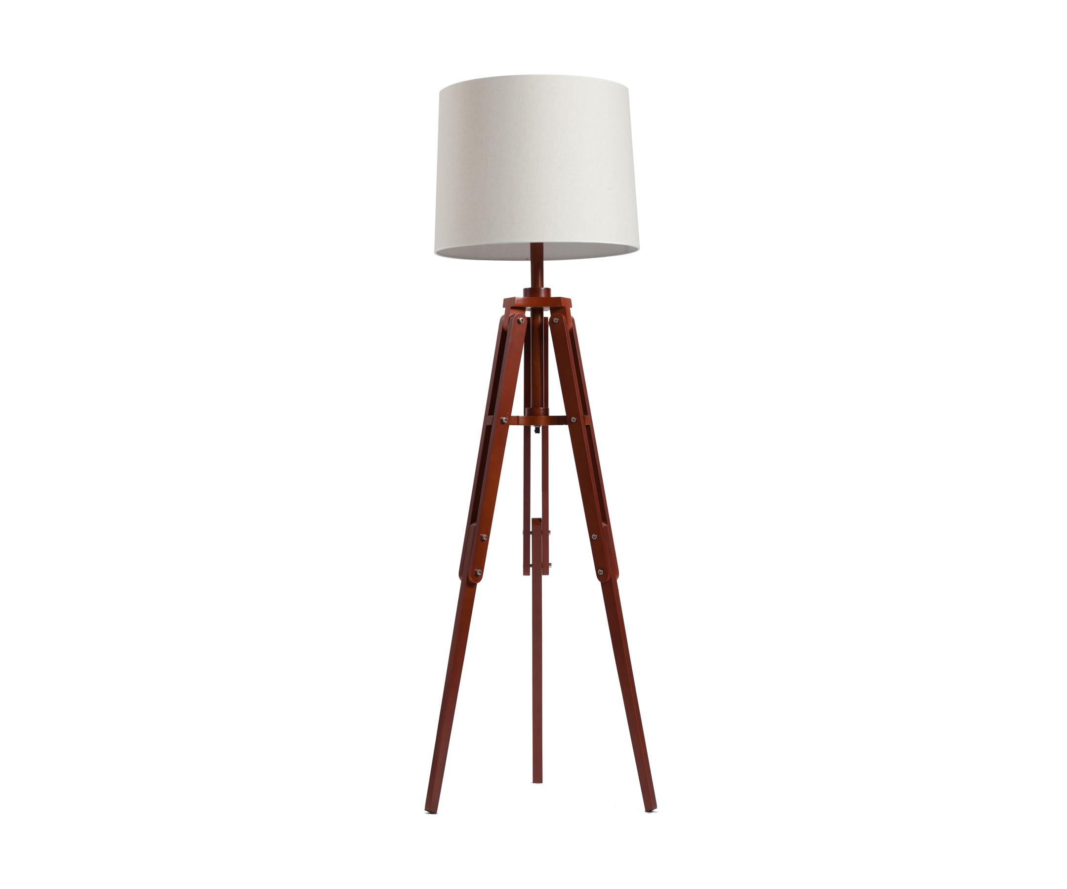 Напольный светильник Vintage Tripod Floor LampТоршеры<br>Светодиодная лампа, не включена в комплект<br><br>Material: Дерево<br>Width см: 53<br>Depth см: 53<br>Height см: 183