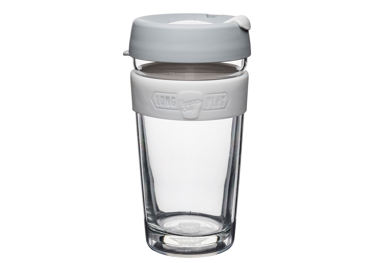 Кружка Keepcup longplay cinoЧайные пары, чашки и кружки<br>Новая версия культовых кружек Keepcup с еще более удобной крышкой. Двойной корпус теперь состоит из стекла и пластика Tritan. Кружка, созданная с мыслями о вас и о планете. Главная идея KeepCup – вдохновить любителей кофе отказаться от использования одноразовых бумажных и пластиковых стаканов, так как их производство и утилизация наносят вред окружающей среде. В год производится и выбрасывается около 500 миллиардов одноразовых стаканчиков, а ведь планета у нас всего одна! <br><br>Но главный плюс кружки  – привлекательный и яркий дизайн, который станет отражением вашего личного стиля. Берите её в кафе или наливайте кофе, чай, сок дома, чтобы взять с собой - пить вкусные напитки на ходу, на работе или на пикнике. Специальная крышка с открывающимся и закрывающимся клапаном спасет от брызг, а силиконовый ободок поможет не обжечься (плюс, удобно держать кружку в руках.<br>Крышка сделана из нетоксичного пластика без содержания вредного бисфенола (BPA-free). <br><br>Стеклянная кружка теперь дополнена съемным корпусом из пластика Tritan.<br>Благодаря этой особенности кружка лучше сохраняет тепло и предотвращает образование конденсата, если напиток со льдом. Корпус не дает обжечься и защищает руку от холода.&amp;lt;div&amp;gt;&amp;lt;br&amp;gt;&amp;lt;/div&amp;gt;&amp;lt;div&amp;gt;Объем: 454 мл.&amp;lt;br&amp;gt;&amp;lt;/div&amp;gt;<br><br>Material: Стекло<br>Height см: 15,8<br>Diameter см: 8,8
