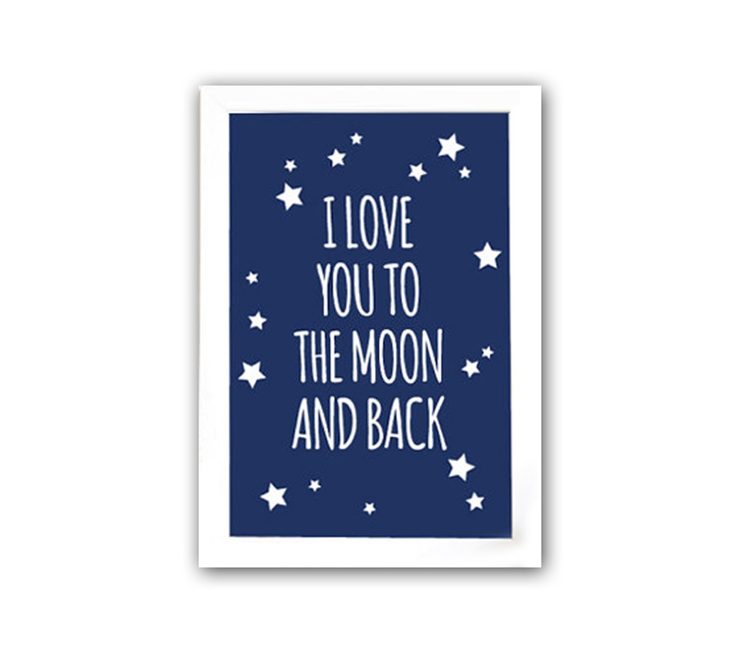 "DG Постер ""To the blue moon and back"" А4"