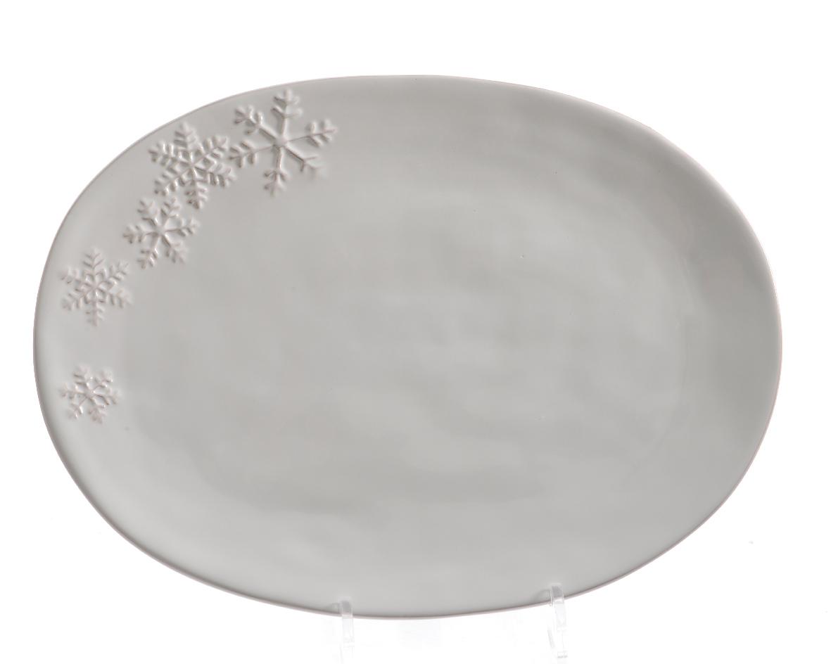 Сервировочное блюдо со снежинкойДекоративные блюда<br>Материал: доломит<br><br>Material: Камень<br>Width см: 26<br>Depth см: 3<br>Height см: 36