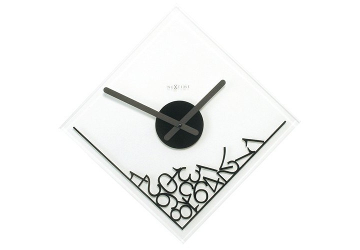Настенные часы DROPPED NUMERALSНастенные часы<br>кварцевый механизм<br><br>Material: Стекло<br>Diameter см: 35