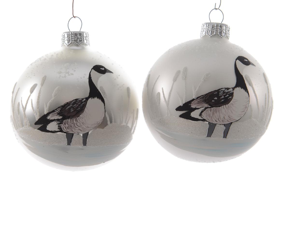 Набор шаров с гусями (6шт)Новогодние игрушки<br><br><br>Material: Стекло<br>Width см: None<br>Depth см: None<br>Height см: 8<br>Diameter см: 8