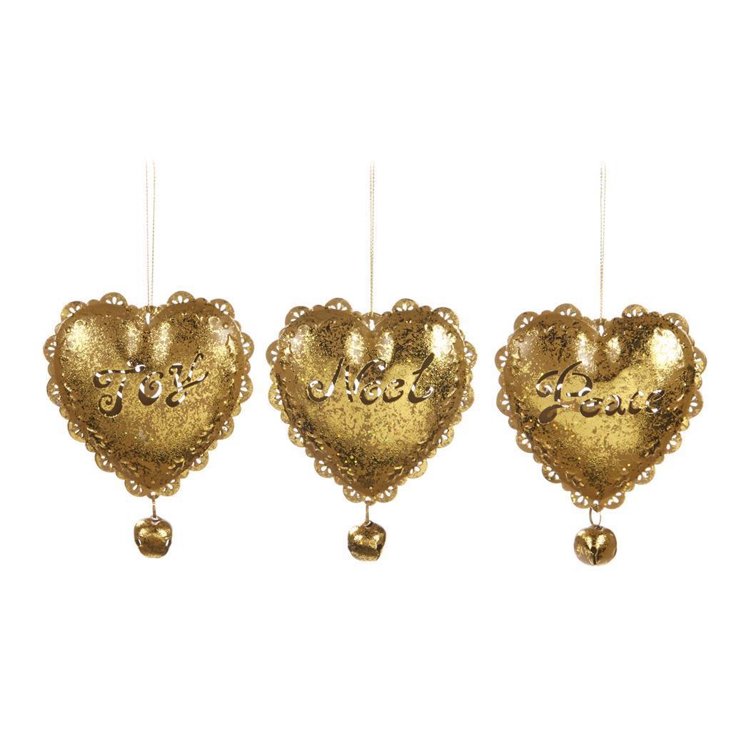 Набор золотых сердечек на ёлку (3шт)Новогодние игрушки<br><br><br>Material: Металл<br>Width см: 11<br>Depth см: 5<br>Height см: 12