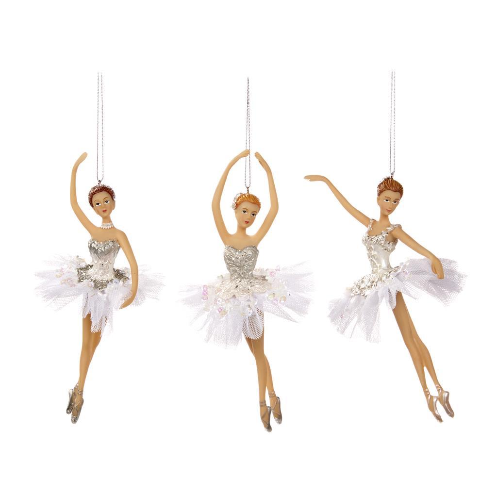 Набор танцующих балерин на ёлку (3шт)Новогодние игрушки<br>ручная работа<br><br>Material: Полистоун<br>Width см: 9<br>Depth см: 5<br>Height см: 18