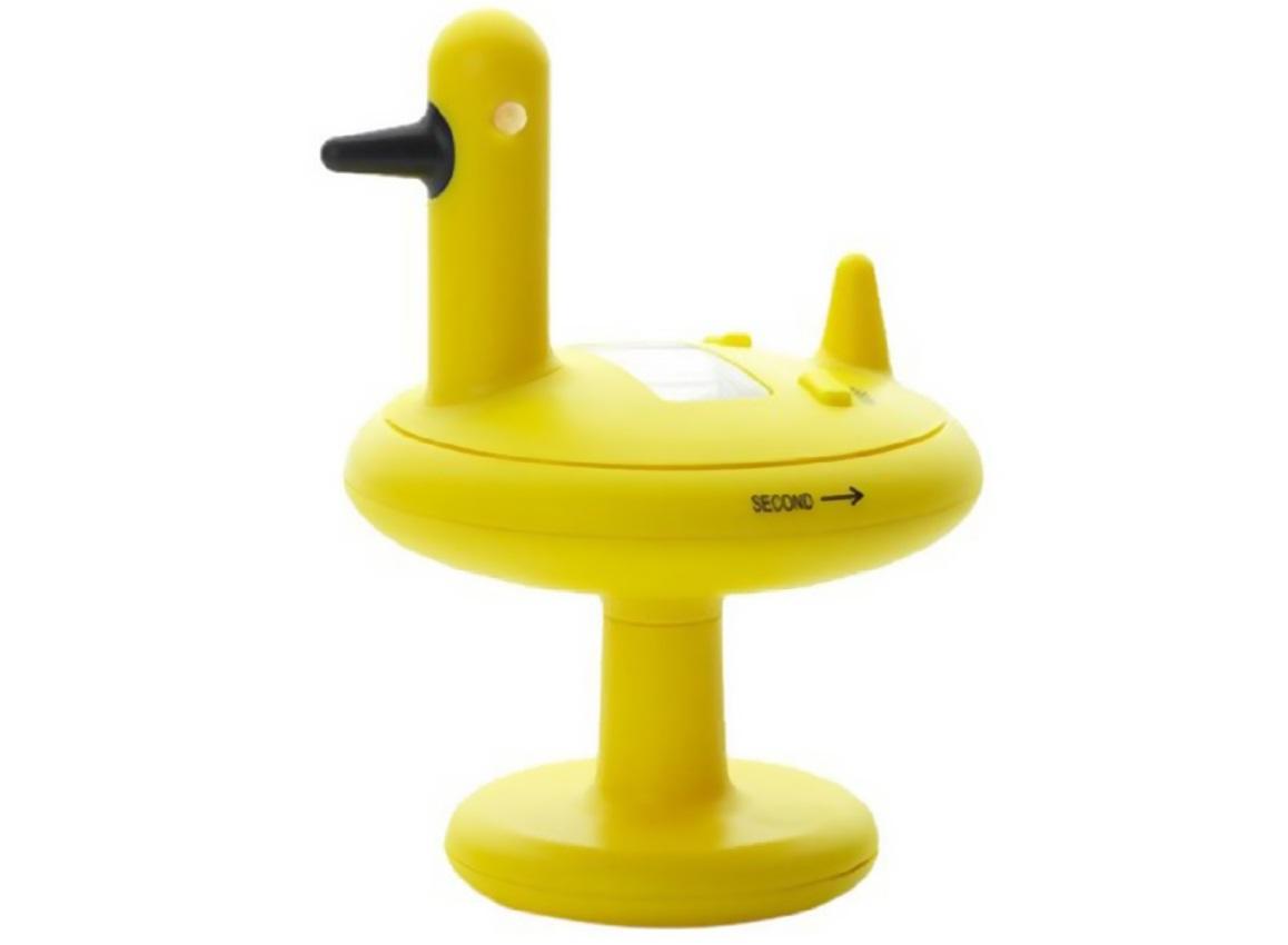 Кухонный таймер duckАксессуары для кухни<br>Кухонный таймер Duck от итальянского бренда Alessi был создан известным финским дизайнером Ээро Аарнио. Этот забавный, но, вместе с тем, практичный утенок разбавит кухонный интерьер, в котором обычно преобладает скучная, стандартная бытовая техника. Простой и удобный в использовании, он станет для вас незаменимым помощником при готовке. Просто установите нужное время: секунды против часовой стрелки, а минуты по часовой, - и он просигналит вам в нужный момент, дружелюбно крякая.<br><br>Material: Пластик<br>Height см: 13<br>Diameter см: 9,8