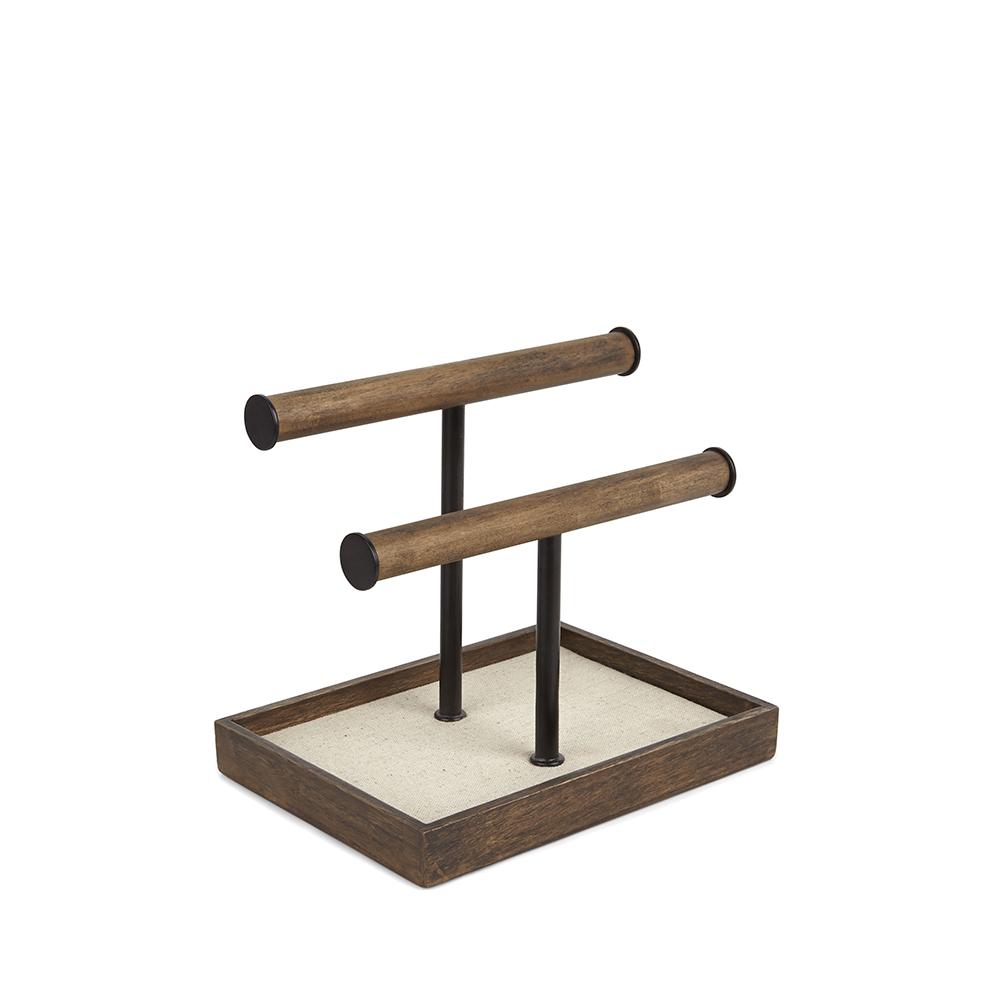Органайзер для украшений PillarХранение украшений<br>Органайзер из дерева и металла, предназначенный, в первую очередь, для хранения ожерелий, часов и браслетов.  Высокая подставка позволяет хранить длинные бусы и ожерелья, избегая их спутывания. В  основании есть выдвижной ящик, предназначенный для колец, запонок, сережек и других мелочей.&amp;lt;div&amp;gt;&amp;lt;br&amp;gt;&amp;lt;/div&amp;gt;&amp;lt;div&amp;gt;Design: Sung wook Park.&amp;lt;/div&amp;gt;<br><br>Material: Дерево<br>Width см: 26,7<br>Depth см: 12,9<br>Height см: 20,9