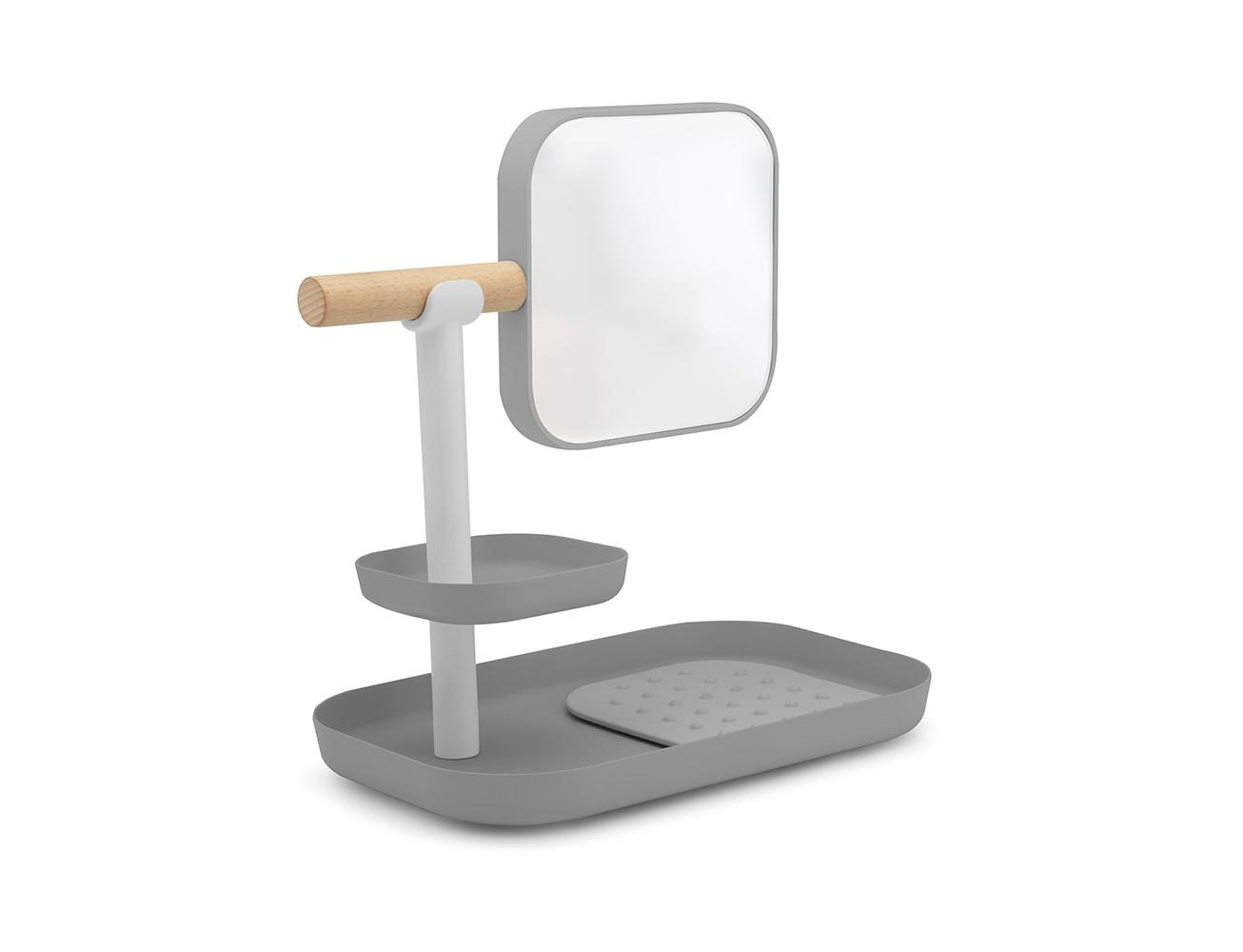 Органайзер с зеркалом VanaХранение украшений<br>Органайзер со съёмным зеркалом и плавными контурами поможет сделать каждодневные процедуры, связанные с нанесением косметики, легче и приятнее. Теперь все мелкие предметы и косметические принадлежности найдут своё место, и при желании их можно переносить одновременно, потому что конструкция органайзера это позволяет. Меньше беспорядка, больше красоты!<br><br>Material: Пластик<br>Width см: 27,9<br>Depth см: 17,8<br>Height см: 29,1