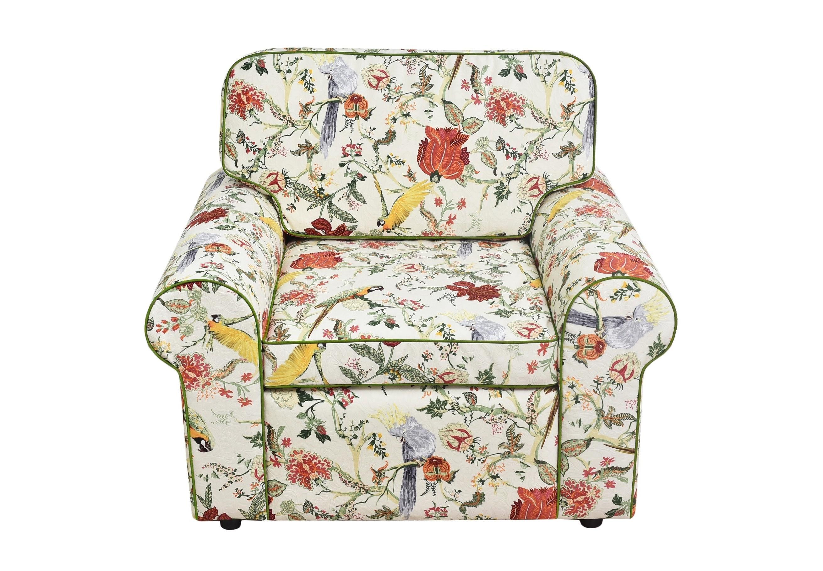 КреслоИнтерьерные кресла<br>Цветы добавляют интерьеру гармонии и уюта, поднимают настроение и, наконец, это просто красиво.  С этим креслом ваша квартира &amp;quot;оживет&amp;quot;, наполнится энергией и станет уютнее. Простой элегантный дизайн подойдет как кантри, так и английскому стилю.<br><br>Material: Текстиль<br>Length см: None<br>Width см: 110<br>Depth см: 60<br>Height см: 90