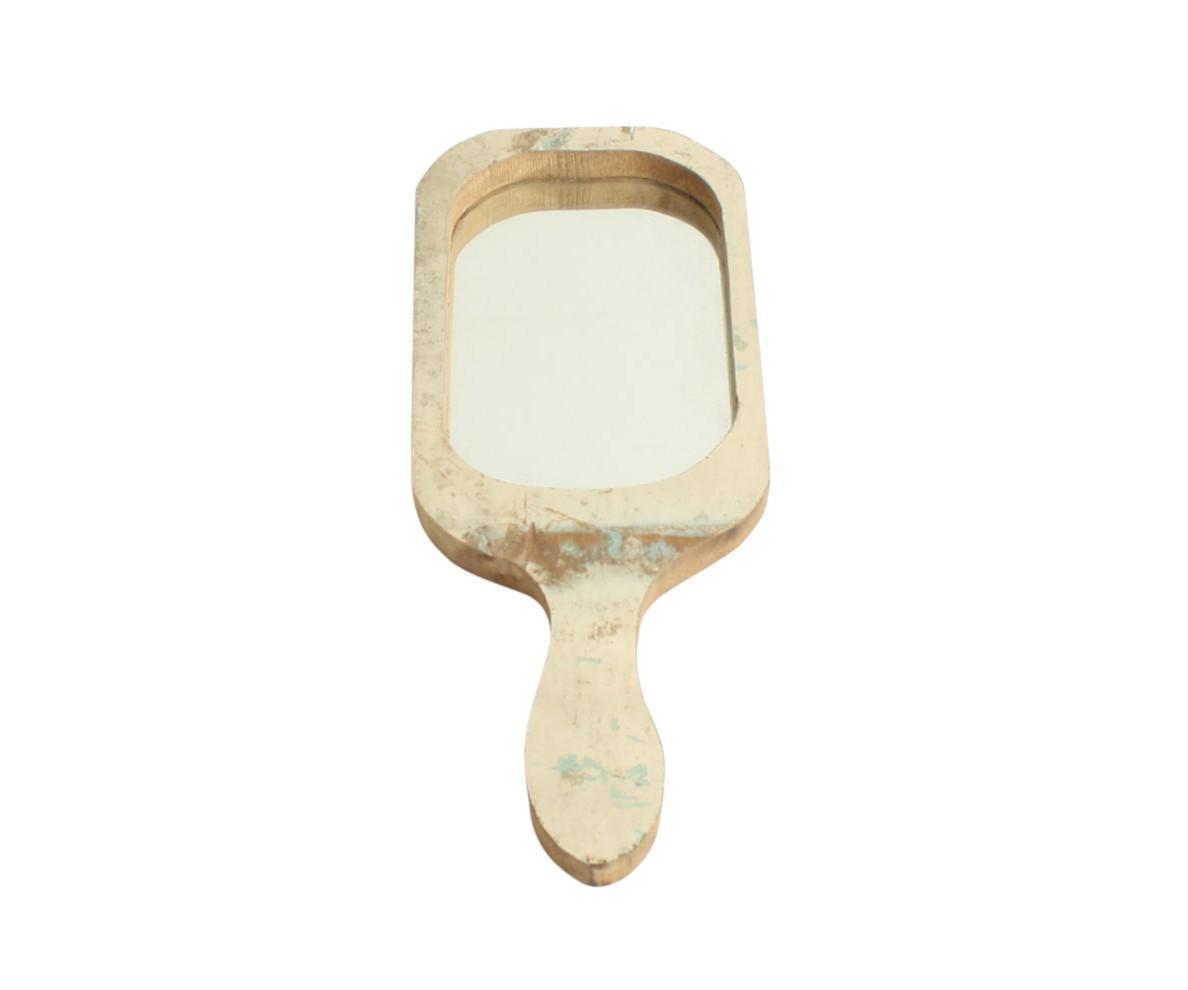 Ручное зеркало SNOWWHITEНастольные зеркала<br>Зеркало ручное, декоративное в деревянной раме.&amp;amp;nbsp;<br><br>Material: Дерево<br>Width см: 16<br>Depth см: 2<br>Height см: 40