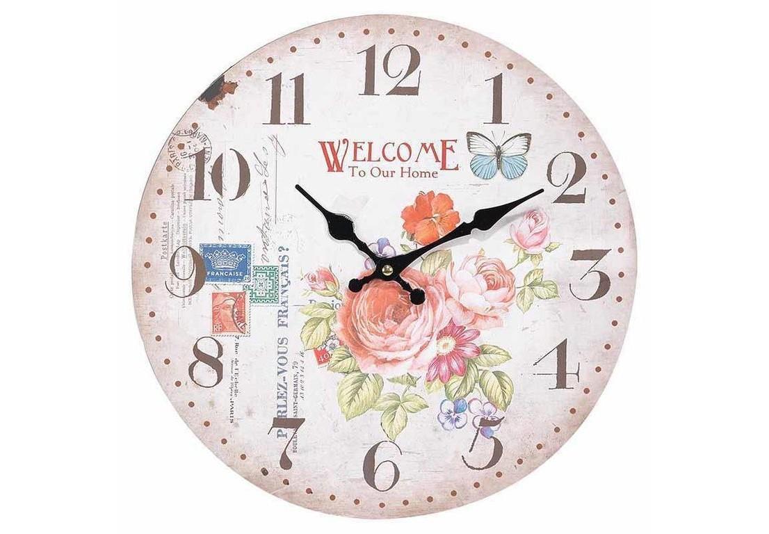 Часы настенные VrementНастольные часы<br>Кварцевый механизм.<br><br>Material: Дерево<br>Width см: 34<br>Depth см: 4<br>Height см: 34