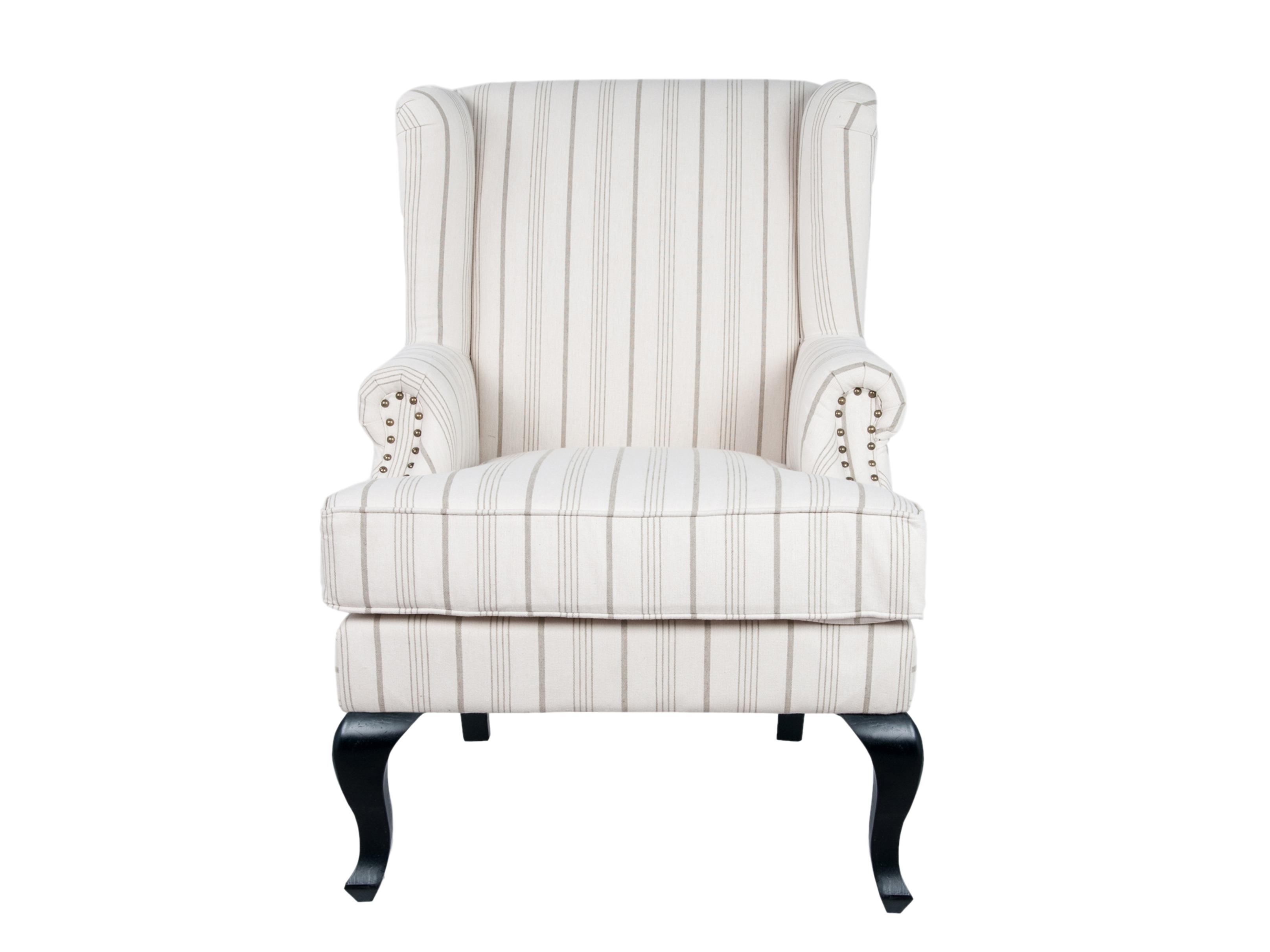 КреслоКресла с высокой спинкой<br>Кресло Lekalo это типичный представитель классической традиционной мебели. Глубокое, удобное кресло с высокой спинкой и подлокотниками окутает Вас комфортом и уютом.<br><br>Material: Лен<br>Width см: 77<br>Depth см: 75<br>Height см: 111