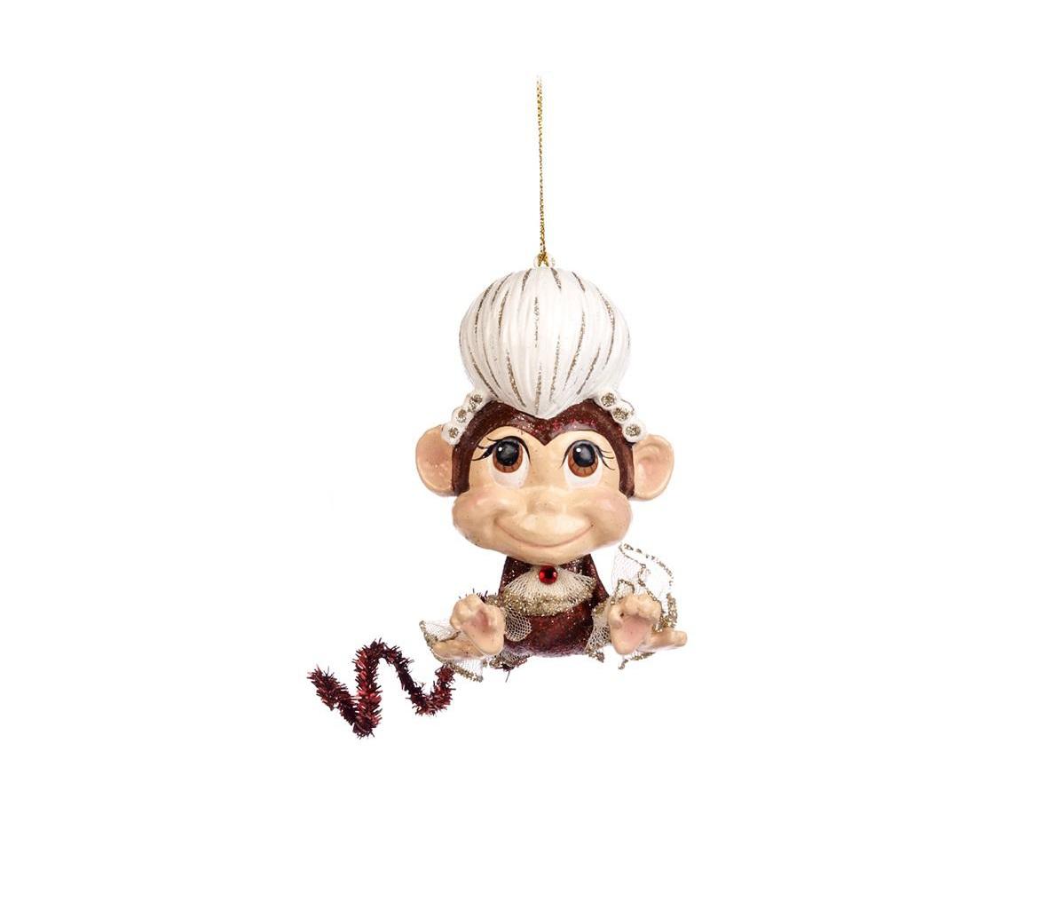 Ёлочное украшение Обезьянка-МоцартНовогодние игрушки<br>ручная работа<br><br>Material: Полистоун<br>Width см: 7<br>Depth см: 86<br>Height см: 11
