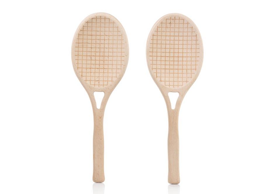 Приборы для салата tennisАксессуары для кухни<br>Комплект из двух ложек для перемешивания и подачи салата. Приборы изготовлены из натурального дерева бука в форме теннисных ракеток.&amp;lt;div&amp;gt;&amp;lt;br&amp;gt;&amp;lt;/div&amp;gt;&amp;lt;div&amp;gt;Материал: дерево, пластик&amp;lt;br&amp;gt;&amp;lt;/div&amp;gt;<br><br>Material: Дерево<br>Ширина см: 8<br>Высота см: 25<br>Глубина см: 1