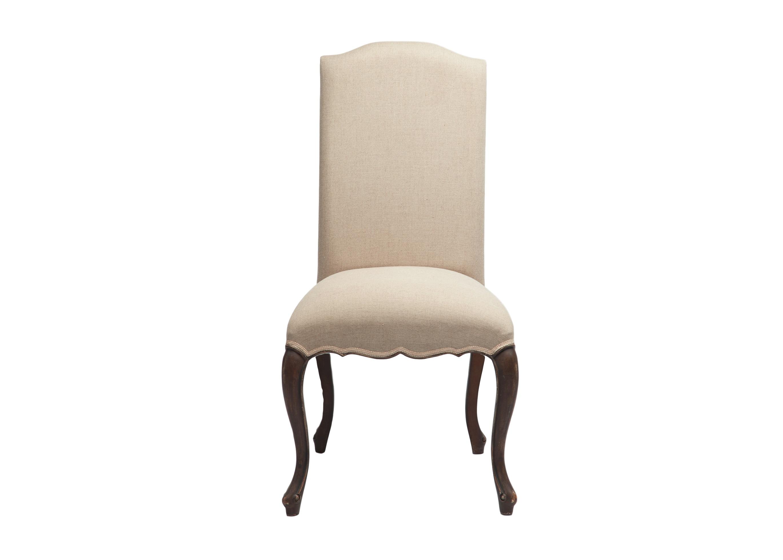 СтулОбеденные стулья<br>Стул с мягкой спинкой в классическом стиле, ножки декорированы патиной. Однотонная обивка.<br><br>Material: Красное дерево<br>Width см: 60<br>Depth см: 56<br>Height см: 108
