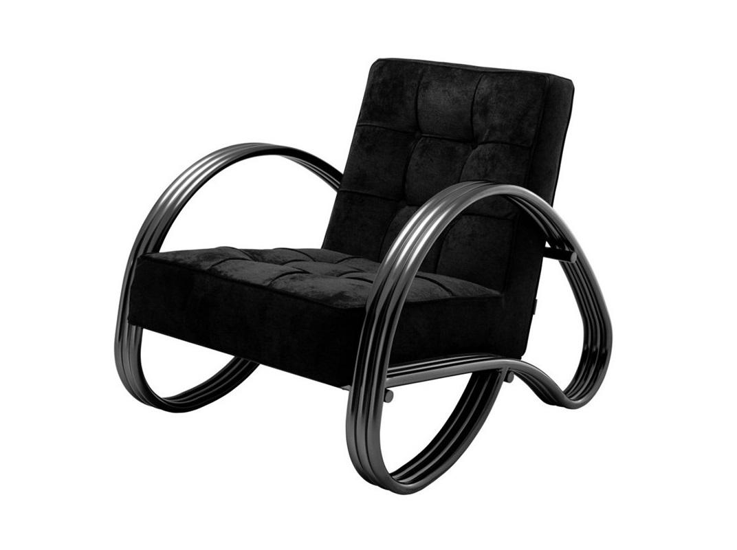 КреслоИнтерьерные кресла<br>Кресло с подлокотниками Chair Domani с металлическим каркасом черно-бронзового цвета. Кресло обтянуто тканью черного цвета.<br><br>Material: Текстиль<br>Width см: 75<br>Depth см: 87<br>Height см: 72