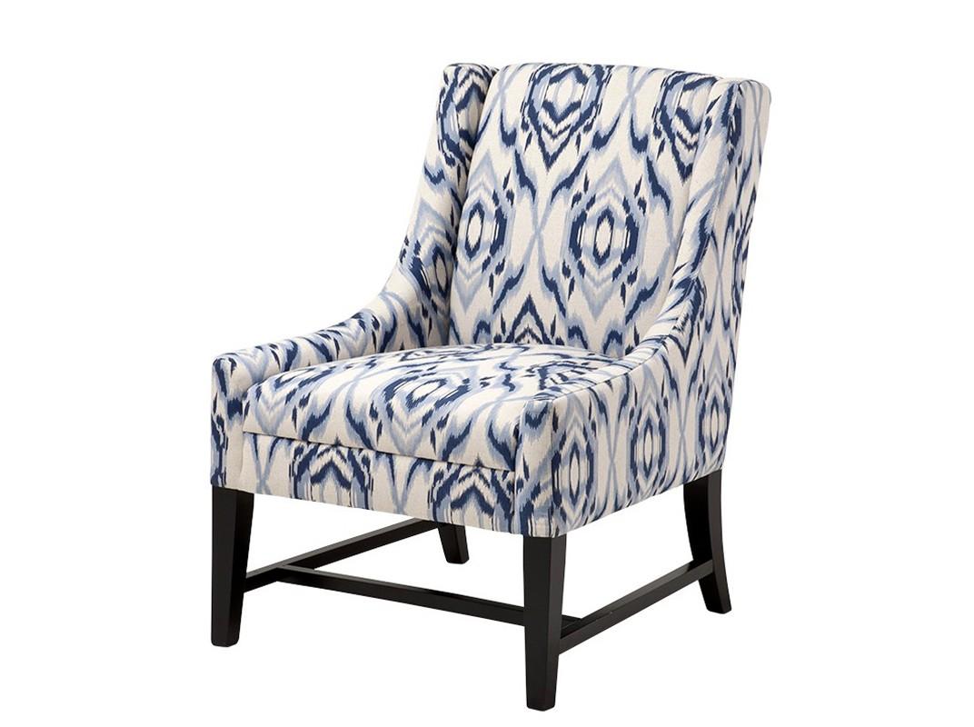 КреслоИнтерьерные кресла<br>&amp;lt;ol&amp;gt;&amp;lt;li&amp;gt;Кресло без подлокотников Chair Harrison на деревянных черных ножках. Кресло обтянуто тканью с оригинальным рисунком бело-синего цвета.&amp;lt;br&amp;gt;&amp;lt;/li&amp;gt;&amp;lt;/ol&amp;gt;<br><br>Material: Текстиль<br>Width см: 64<br>Depth см: 69<br>Height см: 92