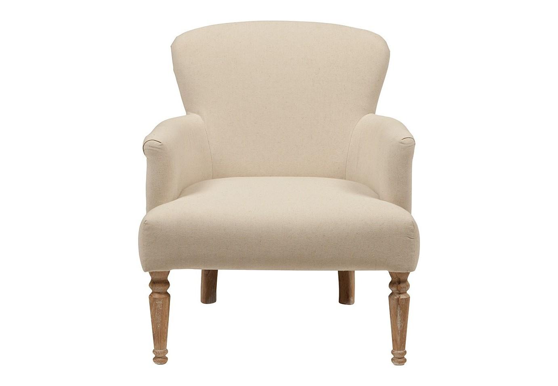 Кресло Balloon ArmchairИнтерьерные кресла<br>Прованский стиль кресла Markus с точеными ножками, винтажной обивкой и уютным сиденьем привлекает внимание с первого взгляда. Конструкция выполнена из добротного берёзового дерева. Для обивки было взято льняное белое полотно, которое отличается долговечностью и своей спокойно расцветкой располагает к отдыху. Удобное сиденье и шикарная по комфорту спинка нежно принимают в свои объятия и обеспечивают спокойную расслабленность.<br><br>Material: Лен<br>Width см: 68<br>Depth см: 74<br>Height см: 85