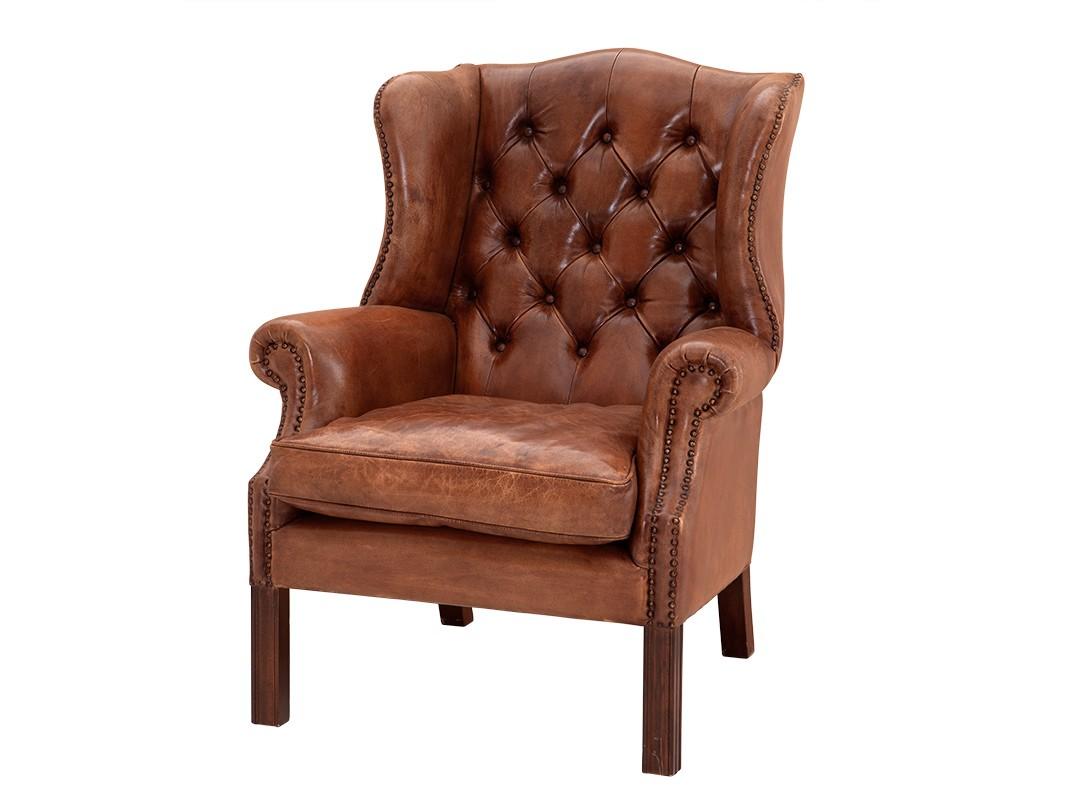 Кресло Club BradleyКожаные кресла<br>Кресло обтянуто кожей табачно-коричневого цвета.&amp;amp;nbsp;&amp;lt;div&amp;gt;Модель выполнена в технике &amp;quot;Капитоне&amp;quot; и декорирована металлическими заклепками.&amp;lt;/div&amp;gt;<br><br>Material: Кожа<br>Ширина см: 72.0<br>Высота см: 103.0<br>Глубина см: 65.0