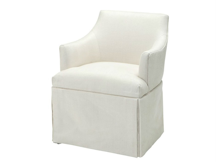 КреслоПолукресла<br>Кресло с подлокотниками Chair Lucille обтянуто льняной тканью белого цвета.<br><br>Material: Лен<br>Ширина см: 63<br>Высота см: 81<br>Глубина см: 63