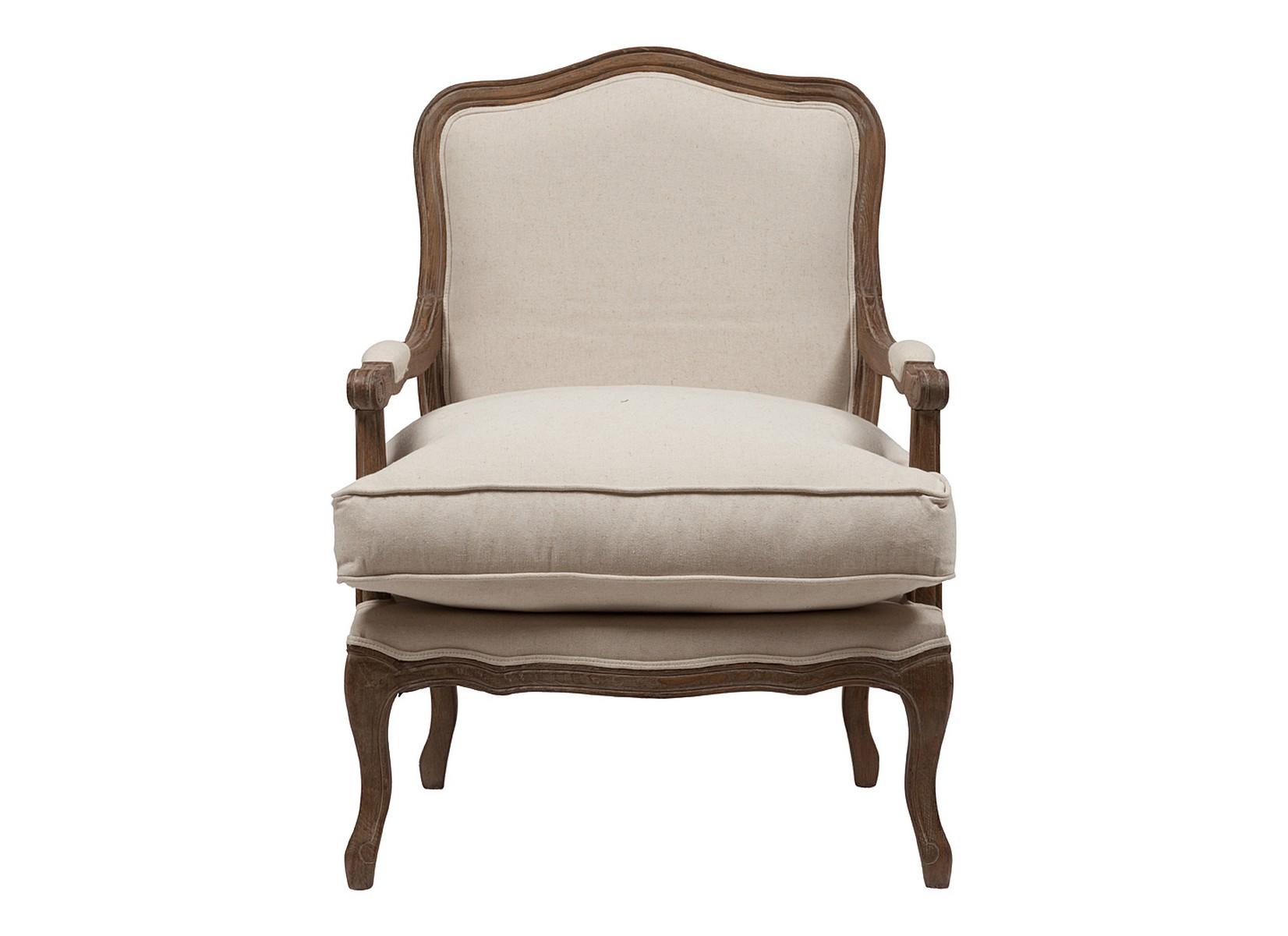 Кресло Louisa Bergere ChairКресла с высокой спинкой<br>Материал каркаса: дуб<br><br>Material: Лен<br>Width см: 68<br>Depth см: 63<br>Height см: 110