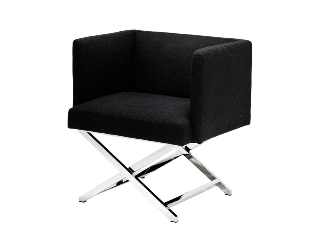 КреслоИнтерьерные кресла<br>Кресло с подлокотниками Chair Dawson на ножках из нержавеющей стали. Кресло обтянуто тканью молочного цвета.<br><br>Material: Текстиль<br>Width см: 68<br>Depth см: 57<br>Height см: 74