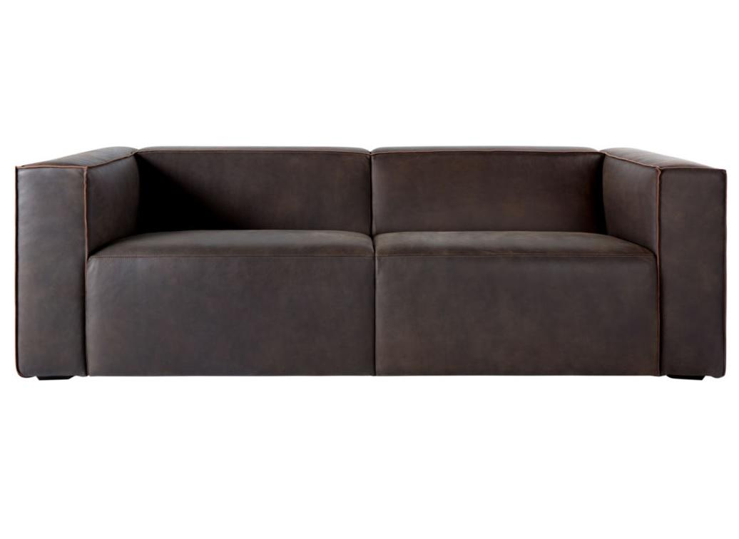 Диван Wayne sofa SlateКожаные диваны<br><br><br>Material: Кожа<br>Width см: 254<br>Depth см: 98<br>Height см: 78